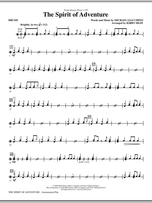 The Spirit Of Adventure - Drums (Choir Instrumental Pak)
