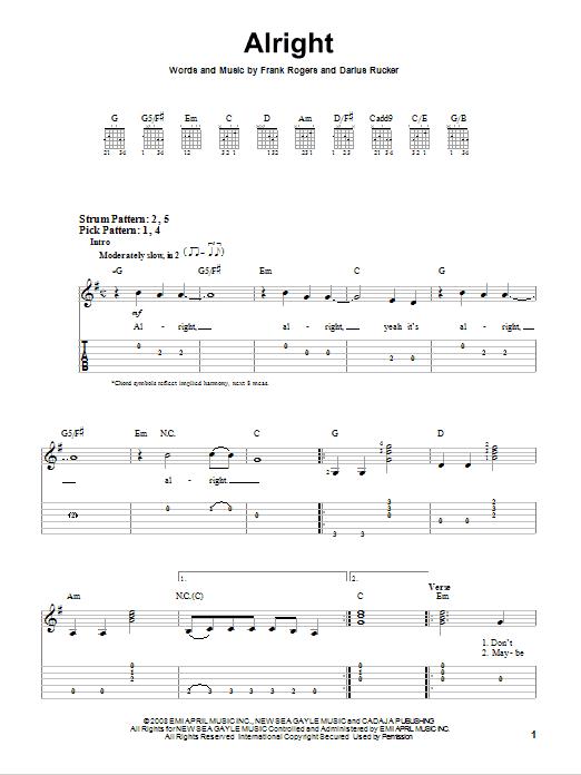 Alright Sheet Music
