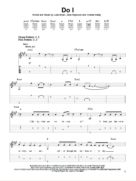 Do I by Luke Bryan - Easy Guitar Tab - Guitar Instructor