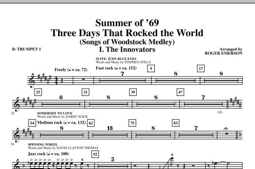Summer Of '69: Three Days That Rocked The World - Bb Trumpet 1 (Choir Instrumental Pak)