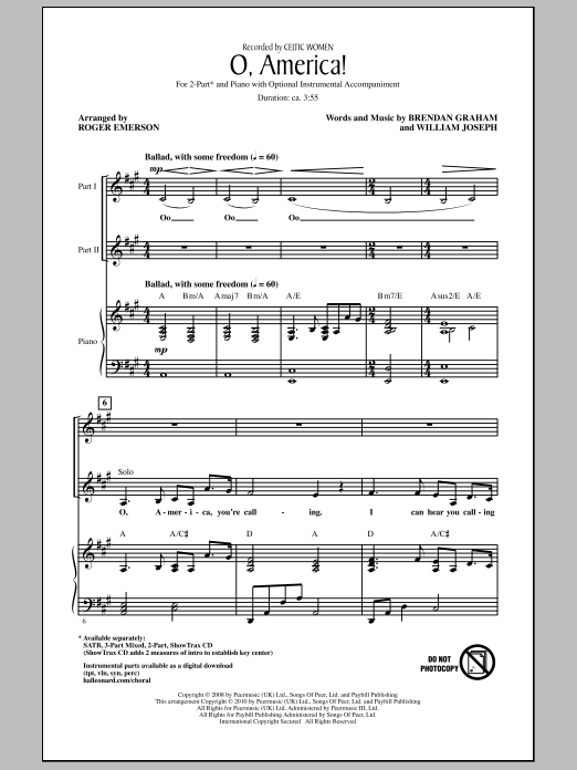 O, America! (2-Part Choir)