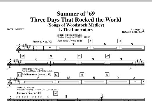 Summer Of '69: Three Days That Rocked The World - Bb Trumpet 2 (Choir Instrumental Pak)