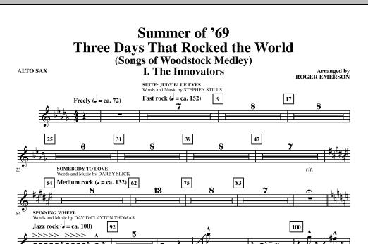 Summer Of '69: Three Days That Rocked The World - Alto Sax (Choir Instrumental Pak)