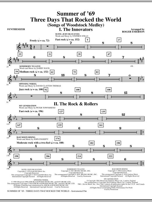 Summer Of '69: Three Days That Rocked The World - Synthesizer (Choir Instrumental Pak)