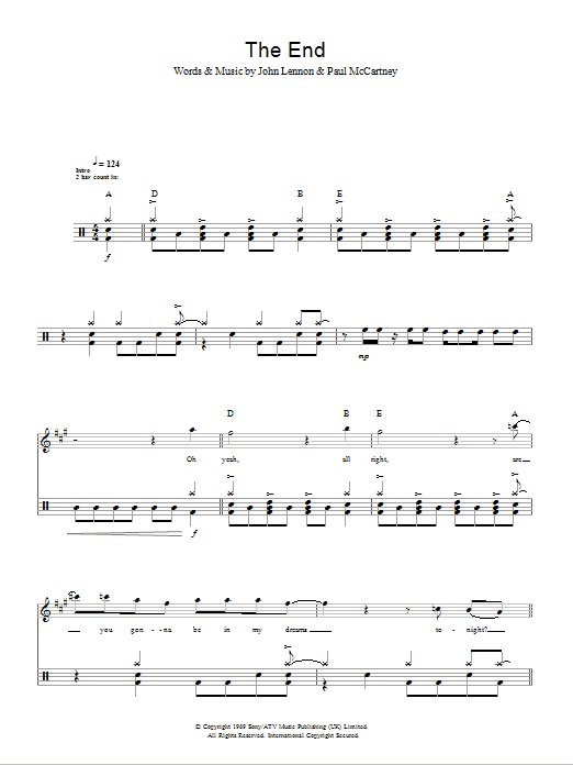 The End Sheet Music
