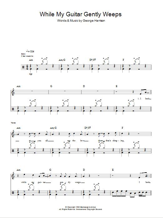 My guitar gently weeps chords santana