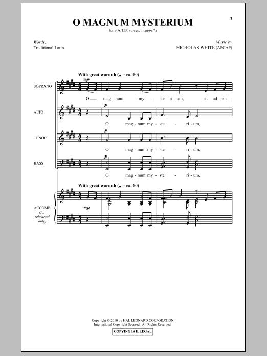 O magnum mysterium antognini pdf
