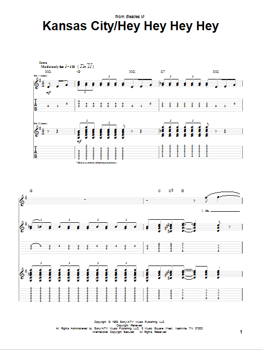 Kansas City (Guitar Tab)