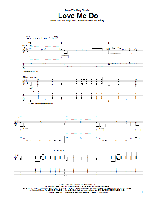 Love Me Do (Guitar Tab)