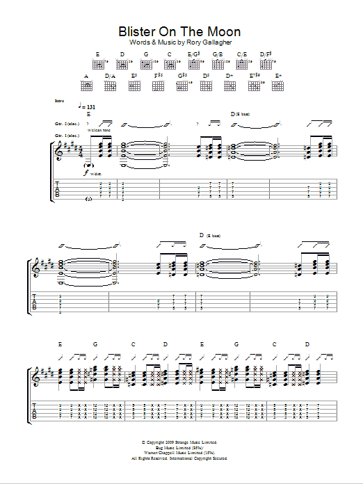 Blister On The Moon By Taste Guitar Tab Guitar Instructor