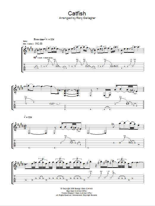 Catfish Sheet Music