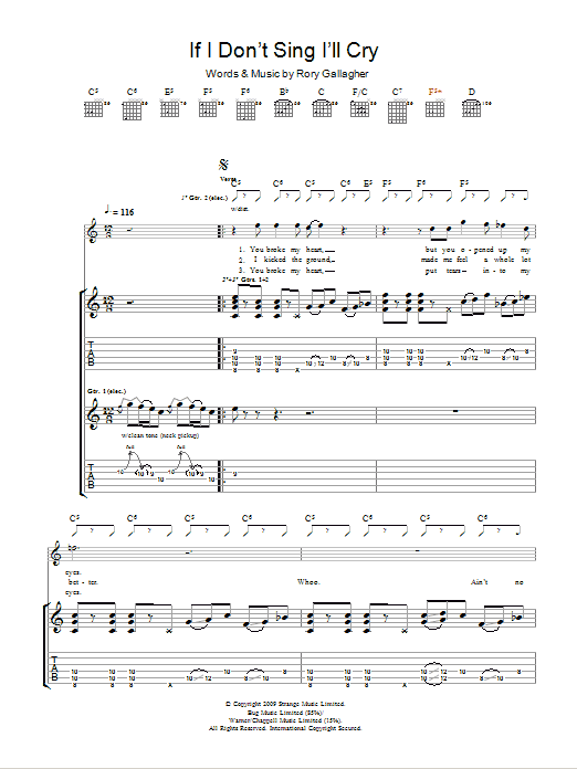 If I Don't Sing I'll Cry Sheet Music