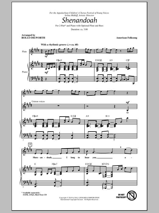 Shenandoah Sheet Music