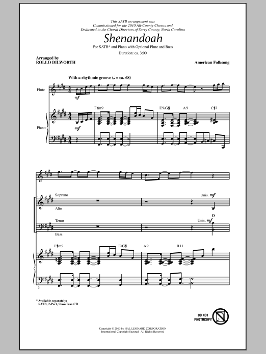 Shenandoah (SATB Choir)