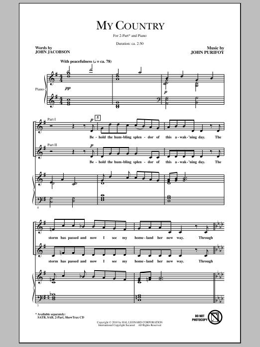 My Country Sheet Music