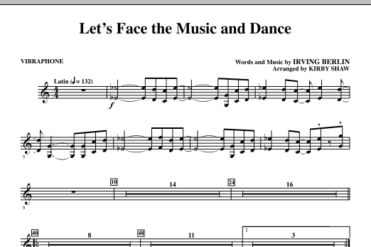 Let's Face The Music And Dance - Vibraphone (Choral Instrumental Pak)