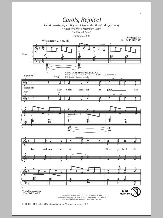 Three For Three - Three Songs For Three Parts - Volume 3 (SSA Choir)