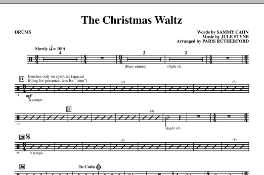 The Christmas Waltz - Drums (Choir Instrumental Pak)