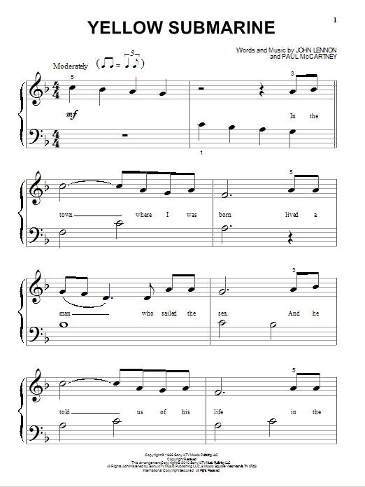 Partition piano Yellow Submarine de The Beatles - Autre