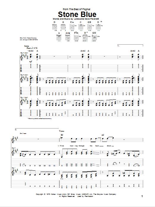 Stone Blue (Guitar Tab)