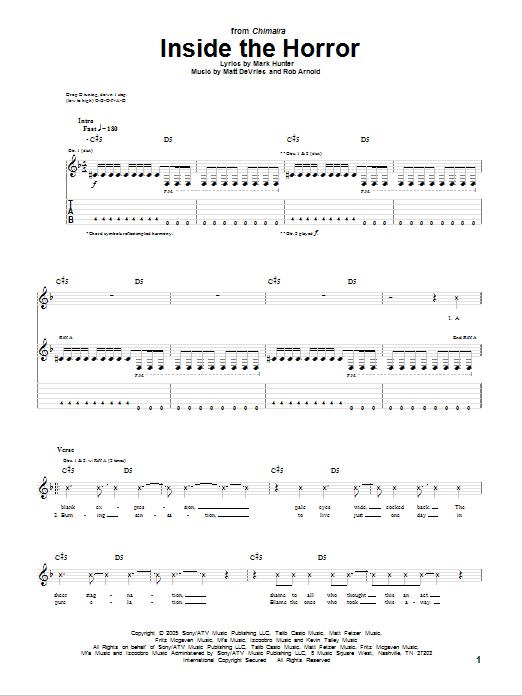 Inside The Horror Sheet Music