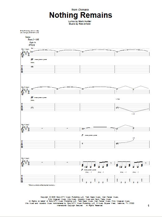 Nothing Remains Sheet Music