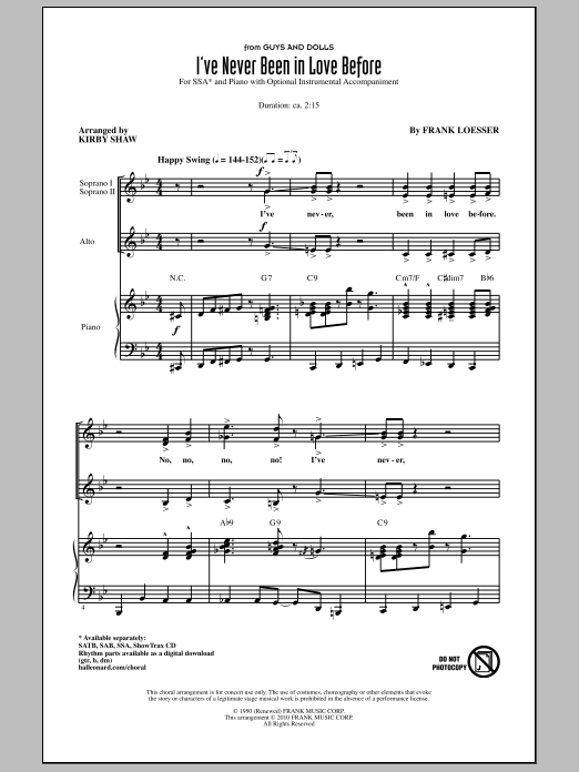 I've Never Been In Love Before Sheet Music