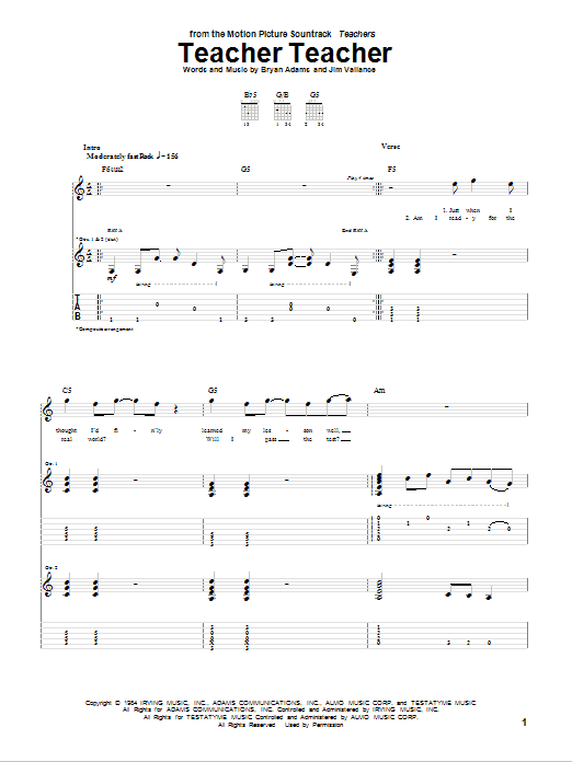 Teacher Teacher Sheet Music