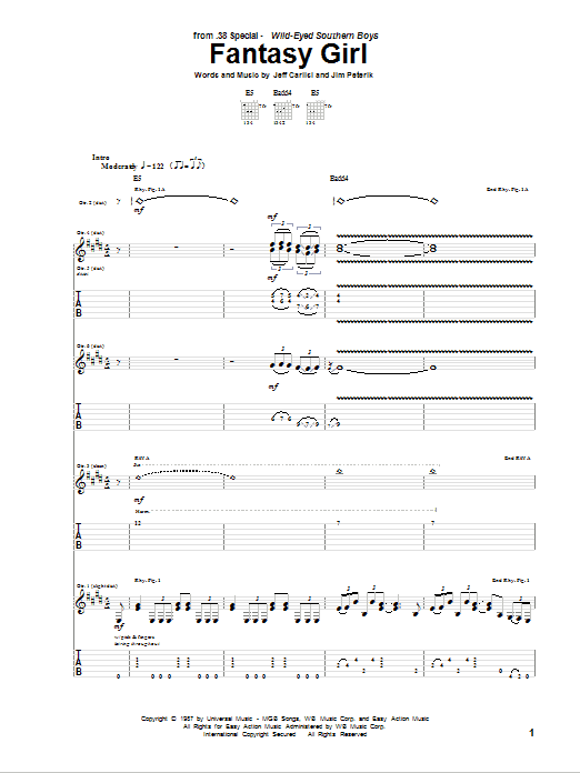 Fantasy Girl Sheet Music