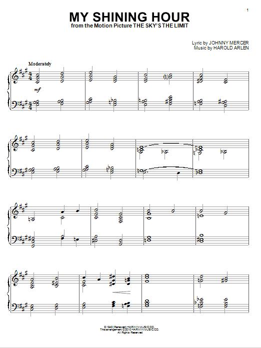 My Shining Hour (Piano Solo)