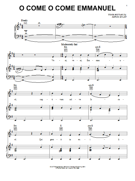 O Come O Come Emmanuel | Sheet Music Direct