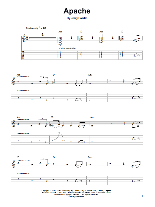 Apache Sheet Music