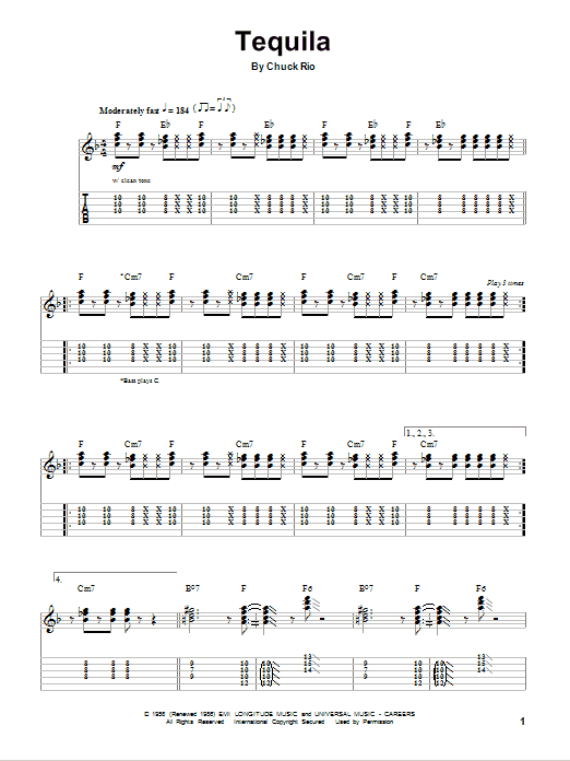 Tequila Sheet Music