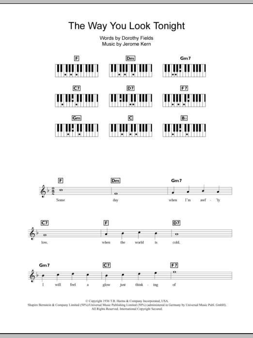 The Way You Look Tonight Sheet Music
