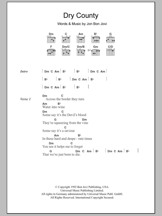 Dry County Sheet Music