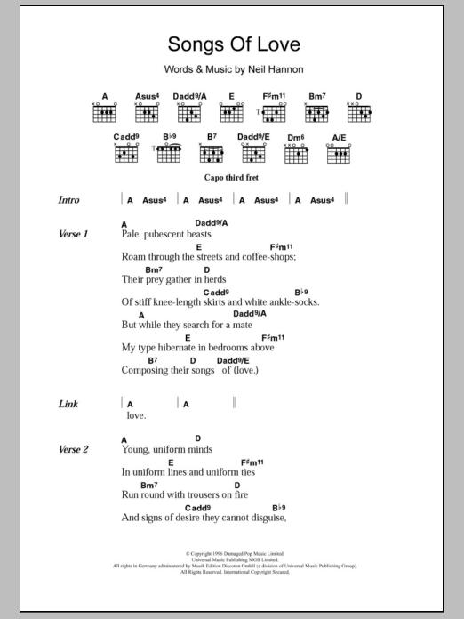 Songs Of Love Sheet Music