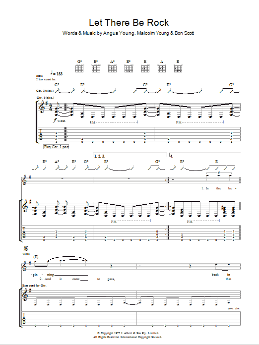 Let There Be Rock (Guitar Tab)