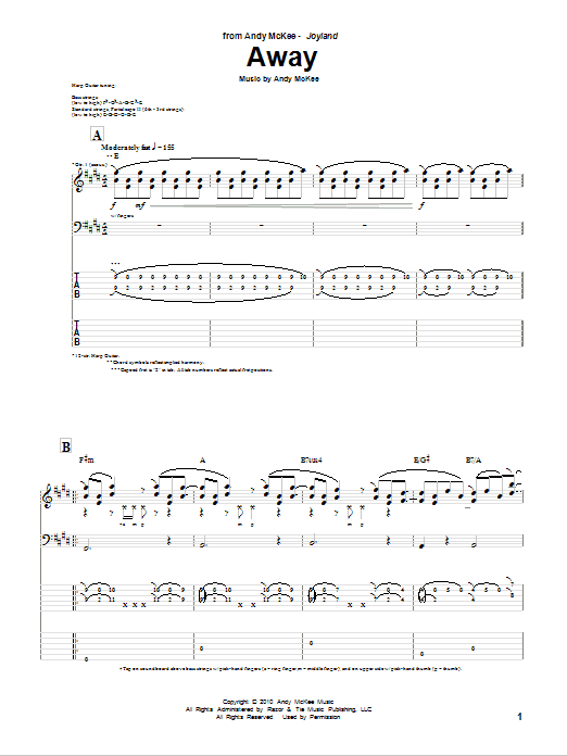 Away Sheet Music
