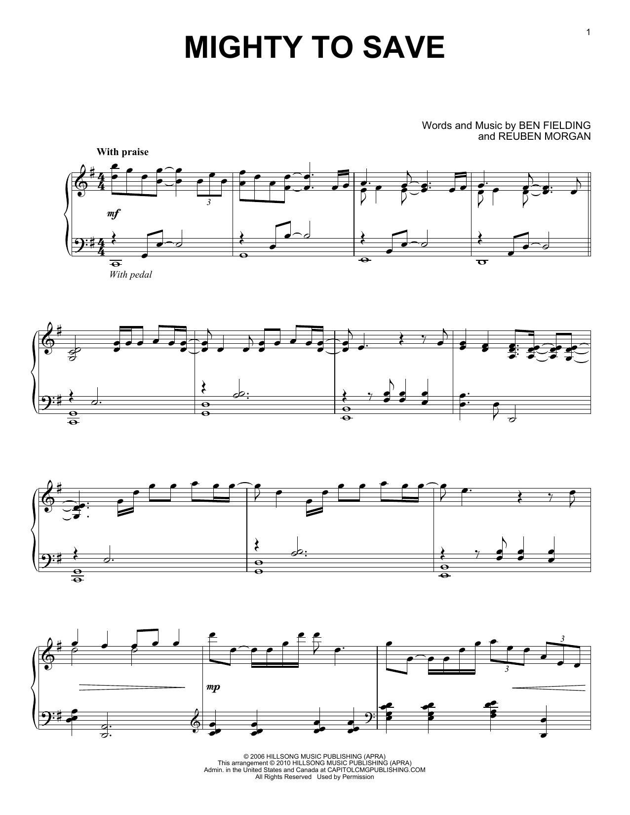 Mighty To Save (Piano Solo)