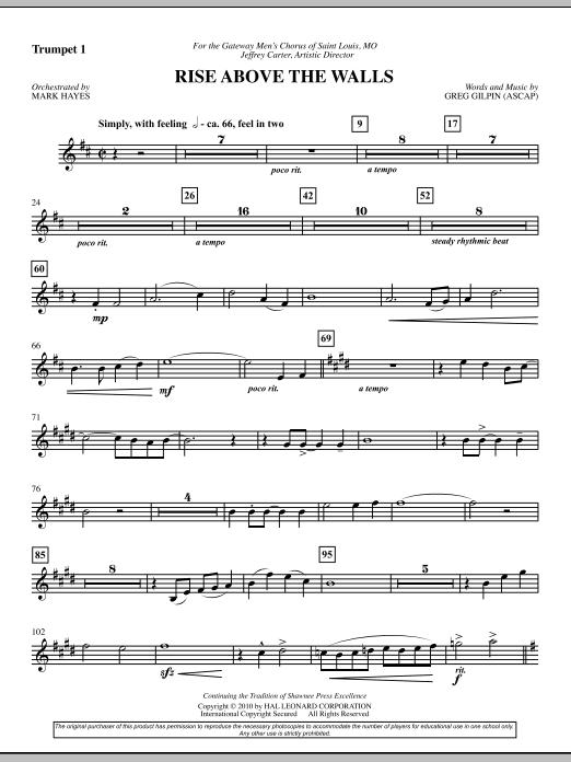 Rise Above The Walls - Trumpet 1 (Choir Instrumental Pak)