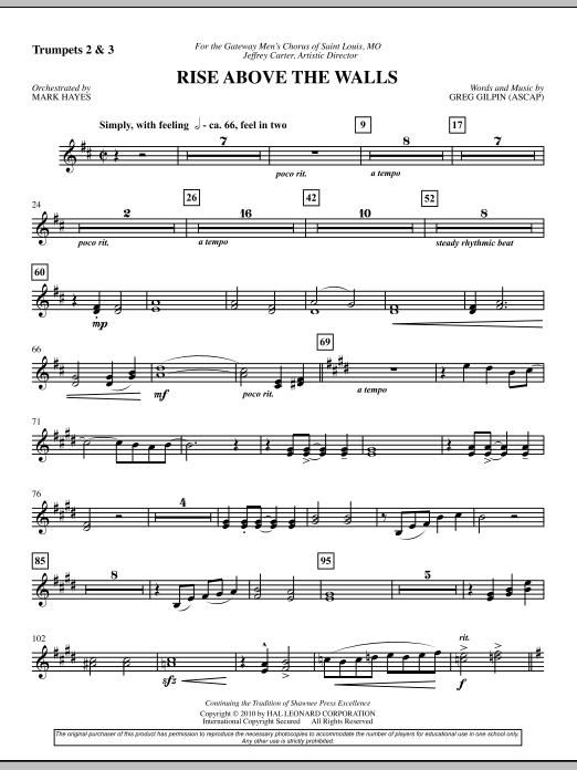 Rise Above The Walls - Trumpet 2, 3 (Choir Instrumental Pak)