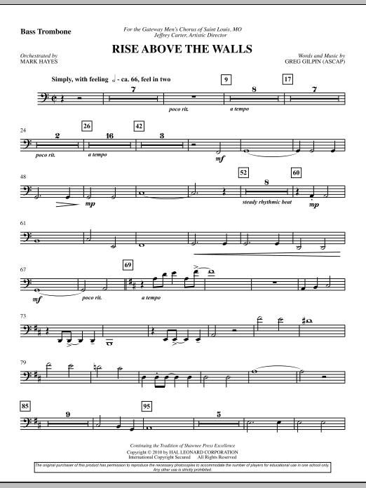 Rise Above The Walls - Bass Trombone (Choir Instrumental Pak)