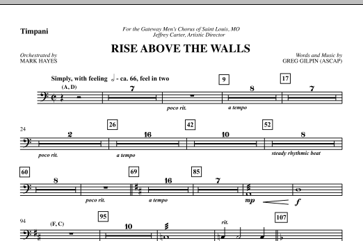 Rise Above The Walls - Timpani (Choir Instrumental Pak)