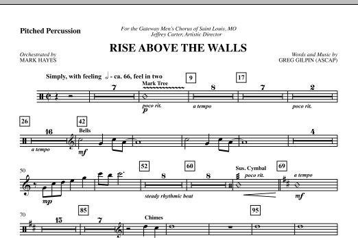 Rise Above The Walls - Pitched Percussion (Choir Instrumental Pak)