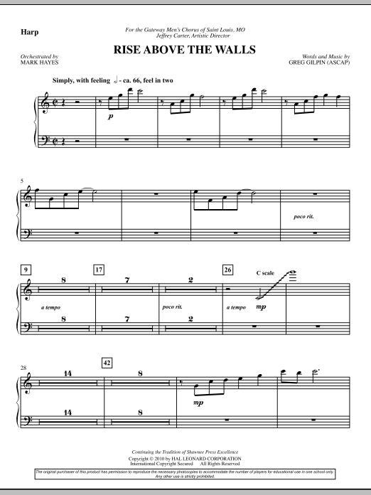 Rise Above The Walls - Harp (Choir Instrumental Pak)