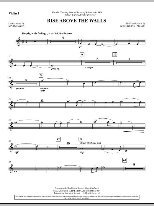Rise Above The Walls - Violin 1 (Choir Instrumental Pak)