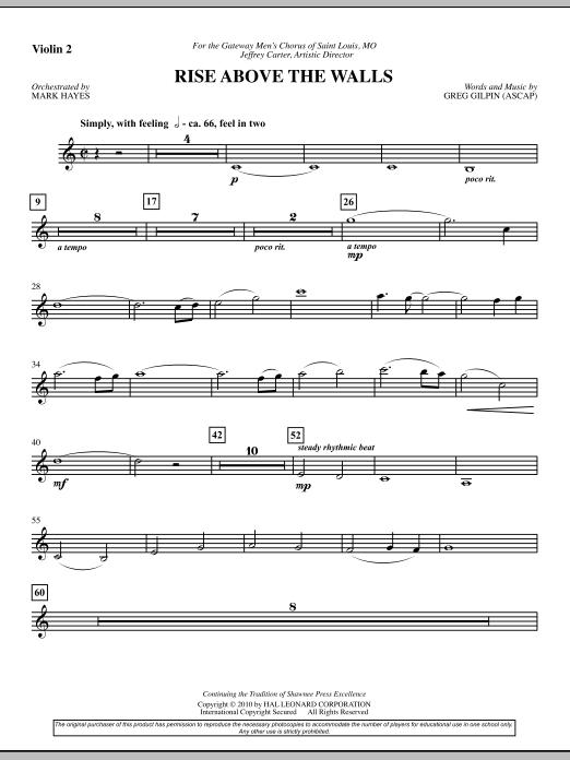 Rise Above The Walls - Violin 2 (Choir Instrumental Pak)