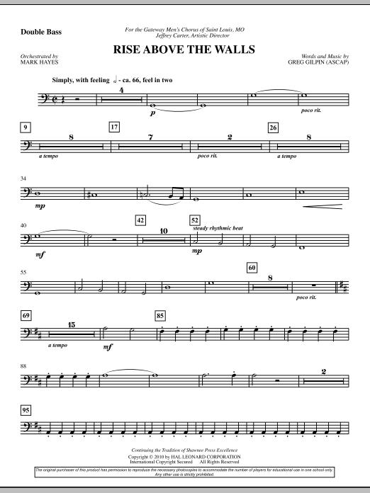 Rise Above The Walls - Double Bass (Choir Instrumental Pak)