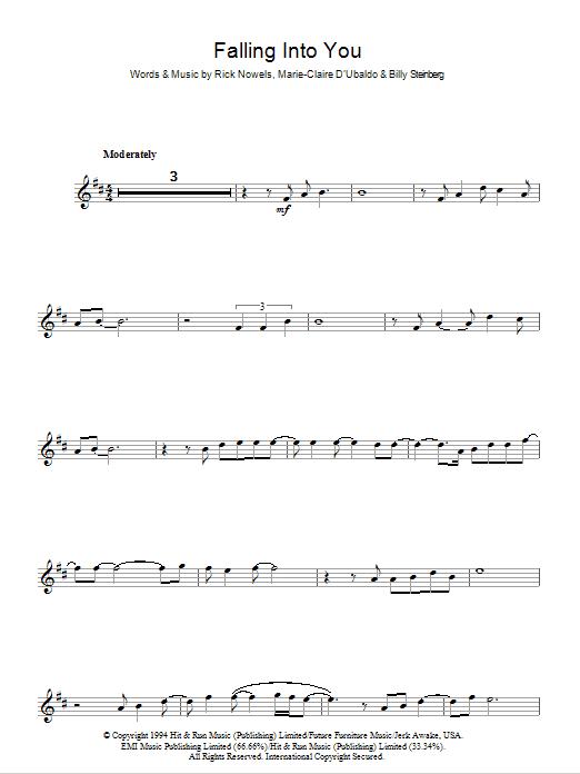 Falling Into You Sheet Music