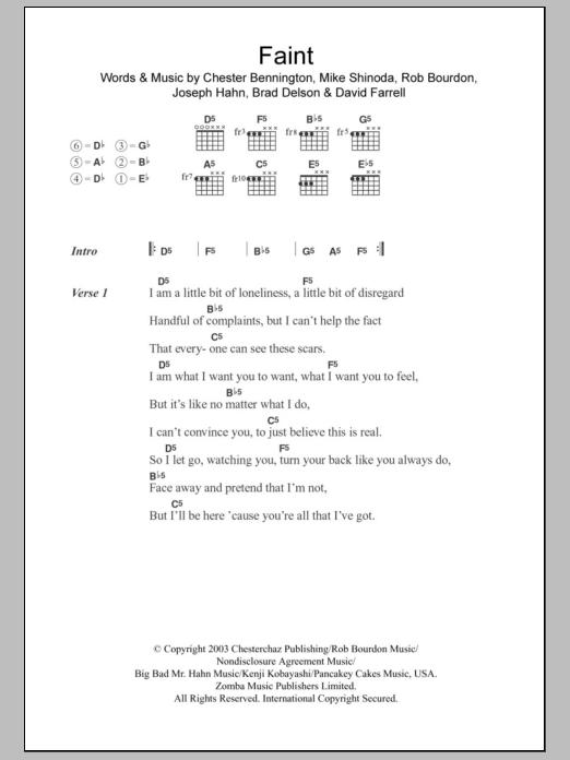Faint Sheet Music Direct